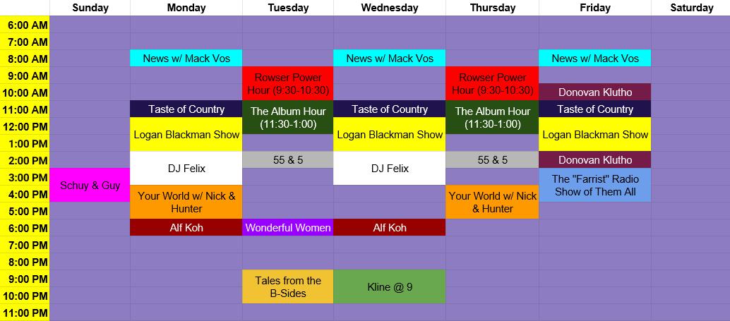 Spring KULT Schedule